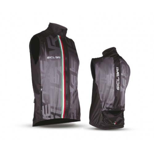 """SOMMO"" UNISEX WINDPROOF VEST WITH REAR CUT"
