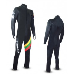 """MENDOLA"" KID SKI RACE SUIT FRONT ZIP"