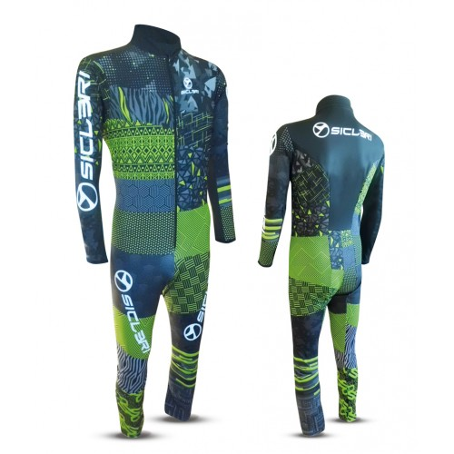 """CABUS"" SKI RACE SUIT FRONT ZIP-6CM LONGER"