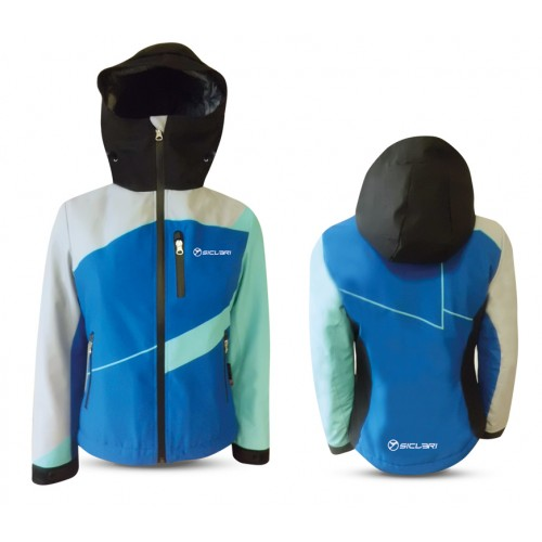 """SENALES"" WOMAN SHELL JACKET WITH INTERNAL GAITER IN DERMIZAX FABRIC"