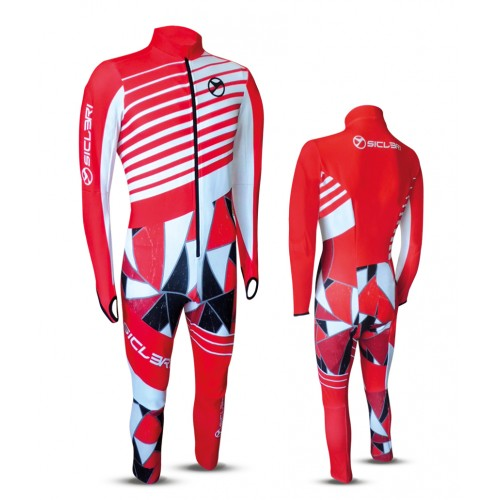 """REST"" SKI RACE SUIT FRONT ZIP"