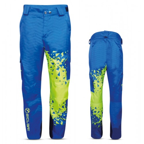 """LUSON"" MAN SKI PANTS WITH EXTERNAL SIDE POCKETS IN ALPI FABRIC"