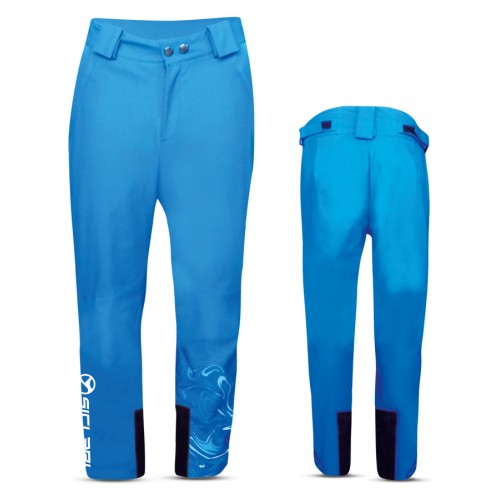 """VILLABASSA"" KID SKI PANTS WITH SIDE ZIP IN DOLOMITI FABRIC"