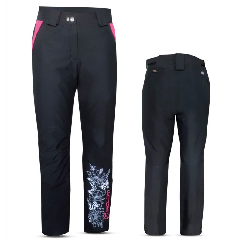 """TESERO"" WOMAN SKI PANTS WITH SIDE ZIP IN eVent FABRIC"