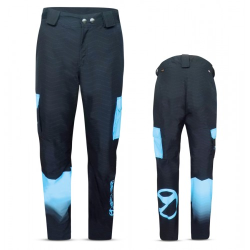 """PREDAZZO"" MAN SKI PANTS WITH EXTERNAL SIDE POCKETS IN DERMIZAX FABRIC"