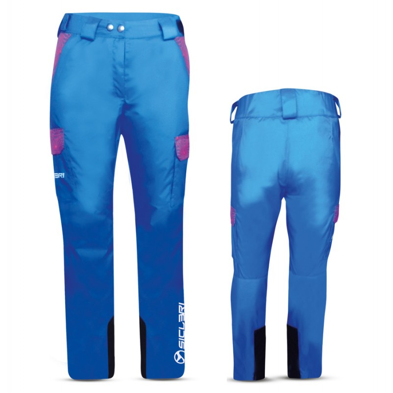 """GAIS"" WOMAN SKI PANTS WITH EXTERNAL SIDE POCKETS IN DOLOMITI FABRIC"