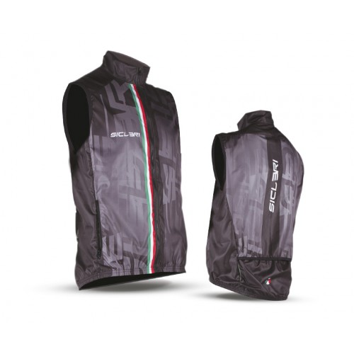 """CIRONE"" UNISEX WINDPROOF VEST WITH TWO REAR POCKETS"