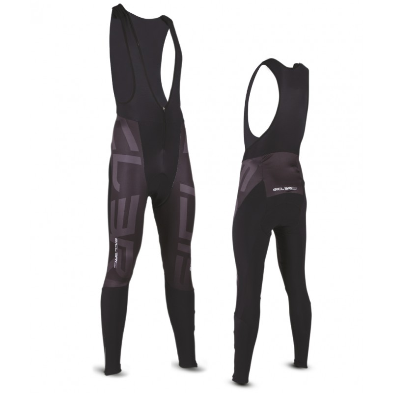 """VALCROCE"" UNISEX WINTER BIB TIGHTS - FRONT WINDPROOF"