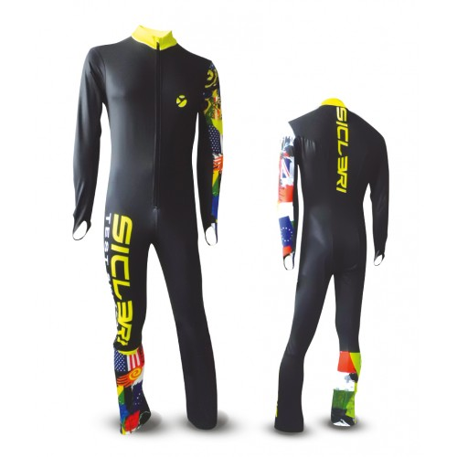campolongo ski race suit front zip