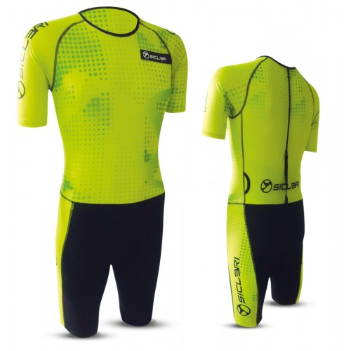 """LEDRO"" UNISEX SHORT SLEEVE SKIN SUIT WITH REAR ZIP"